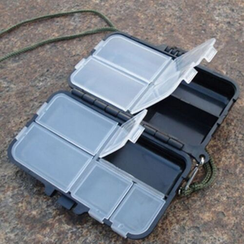 Waterproof Plastic Bait Box Lure Case Fishing Tackle Container Fly Gear Storage