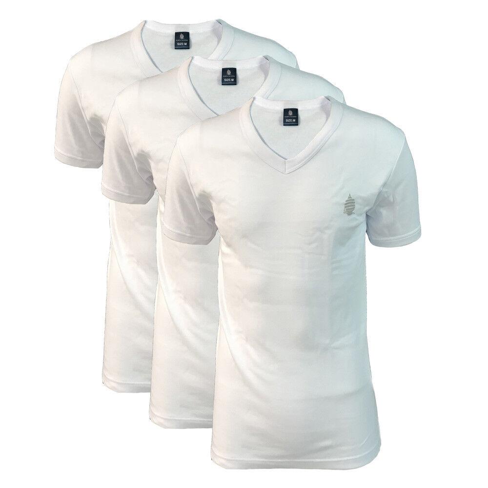 3 t shirt uomo mezza manica scollo V caldo cotone MARINA YACHTING art. MY6562