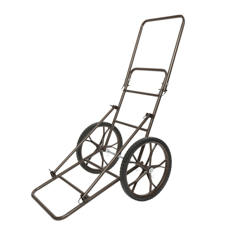 Huge Large Steel Hauling Gear Deer Cart Game Hauler Dolly Cart Hunting Equipment
