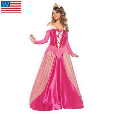 Sleeping Beauty Aurora Costume Adult Princess Fancy Dress Outfit