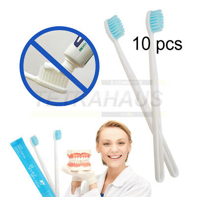 Toothpaste coated Toothbrush Quick & Easy 10 Pcs Bristle Amenity Emergency Aid
