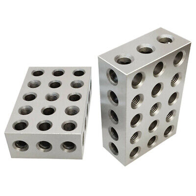 One Pair 2 4 6 Precision Blocks 23 Holes Set Of 2 Pcs