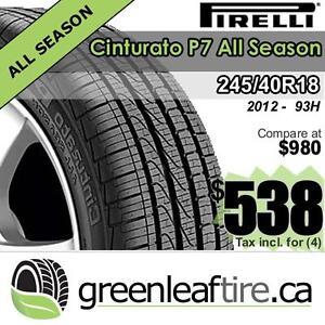 BRAND NEW 245/40R18 Pirelli Cinturato P7 All Season $538 tax included per set , 2012 production
