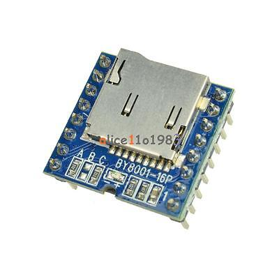 Micro Sd Tf U-disk By8001-16p Mp3 Player Arduino Audio Voice Module Board