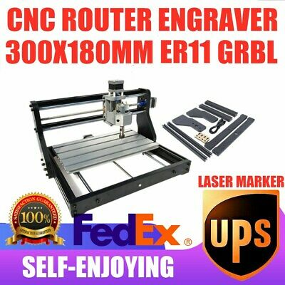 Cnc3018 Engraving Router Laser Carving Milling Diy Cutting Marking Machine 3axis