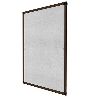 Insektenschutz Fliegengitter Fenster Alurahmen Alu Mückenschutz braun 120x140cm