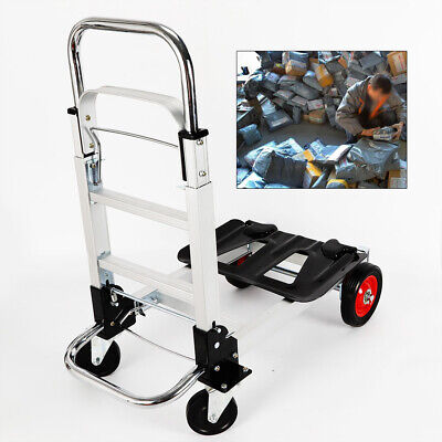 Aluminum Alloy Hand Truck Convertible Heavy Duty Folding Dolly Platform Carts