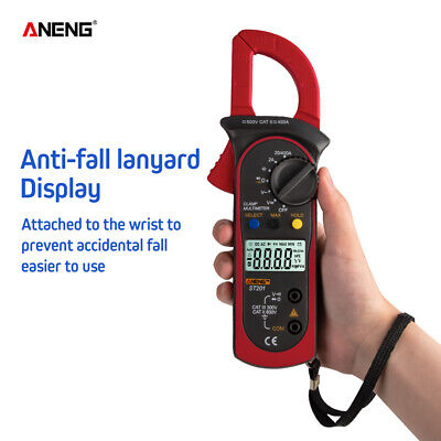 Aneng Digital Clamp Multimeter 4000 Counts Automotive Acdc Voltage Current K4n4