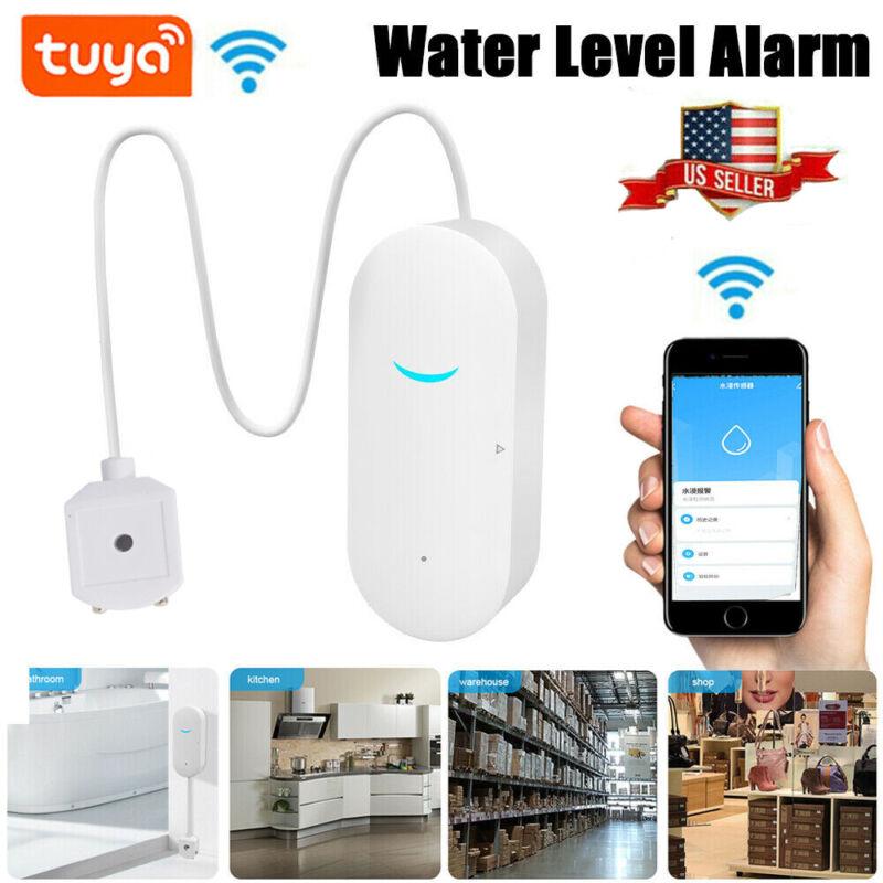 Smart WiFi Water Leak Sensor Flood Leakage Level Alarm Overflow Detector Alert