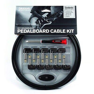 Planet Waves DIY Solderless Guitar Pedalboard Cable Kit 10 ft 10 Plugs D'Addario