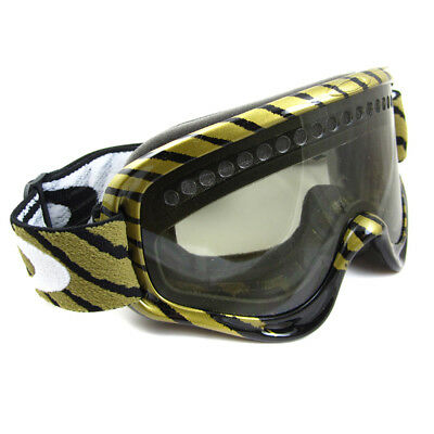 e77f474ae80 Oakley Ski Snow Goggles XS O-Frame Shaun White Black Gold Light Grey 57-428