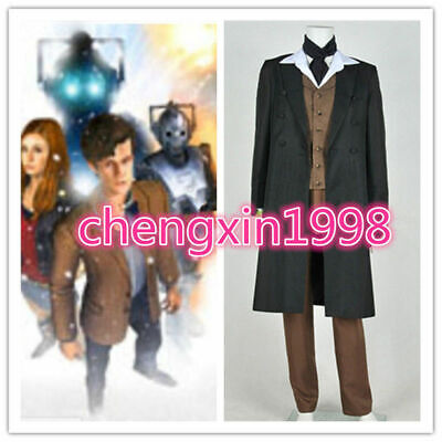 Doctor Who 8th Dr Paul McGann Cosplay Costume Suit Outfit Halloween Costume A831 - Doctor Who Halloween Outfit
