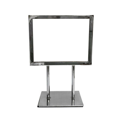 """Card frame 7-1/4"""" x 5-3/4"""" Sign Holder Stand Top Display Retail Display Fixture"""