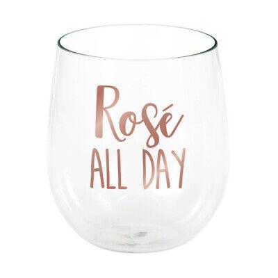 Rosé All Day Plastic Stemless Wine Glasses, 6 Count](Stemless Wine Glasses Plastic)
