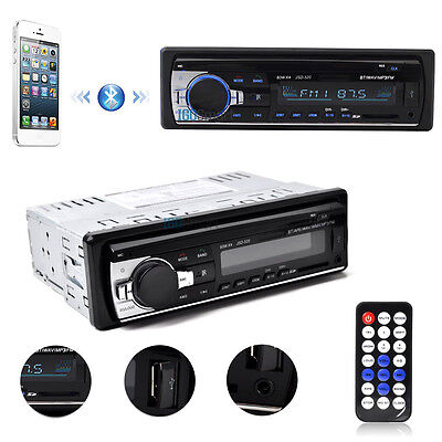 Bluetooth Car In-Dash FM Radio Stereo Audio Receiver MP3 Player SD USB Aux Input on Rummage
