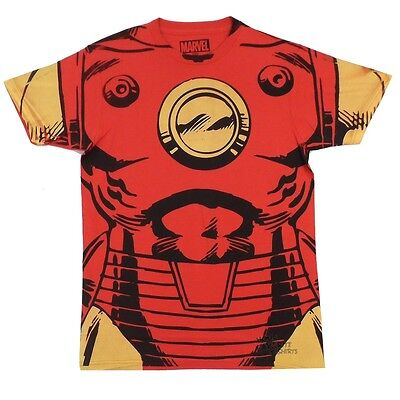 Iron Man Costume Marvel Comics Licensed Adult T Shirt (Iron Man Costums)