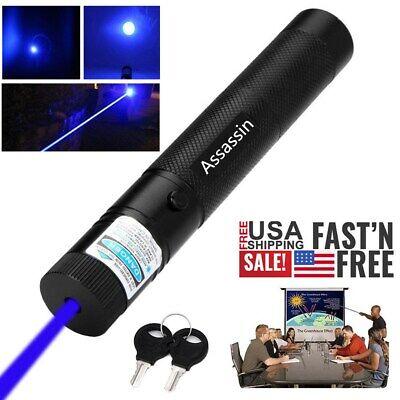600Miles Blue Purple Lamp Beam Laser Pointer Torch 405nm Lazer Adjustable Focus