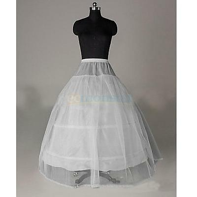 Bridal Petticoat Crinoline Hoop Skirt A-Line Wedding Slip Ball Gown Prom Dress