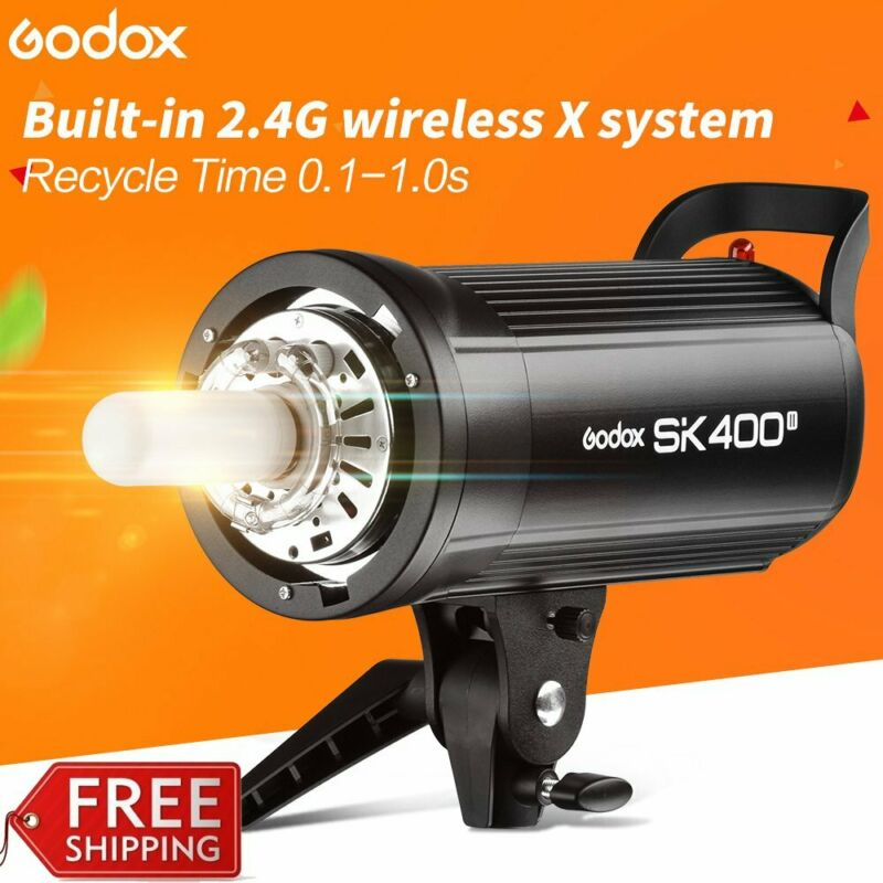 US Godox SK400II 400W GN65 2.4G X System Studio Flash Strobe Photo Light Head