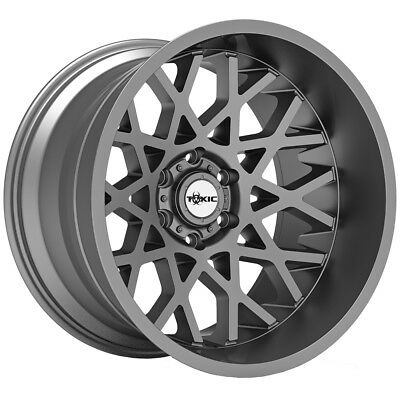 "20"" Inch TOXIC 306 PUNISHER 20X9 6x139.7(6x5.5"") +20mm Gunmetal Wheel Rim"