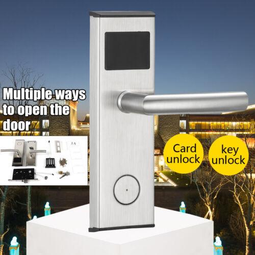 Hotel RFID Card Lock Home Room Lock+2X Mechnical key 5x Mast