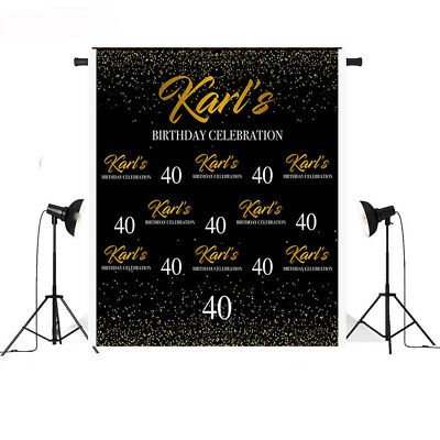 Step and Repeat Birthday Backdrop Custom 40th 50th Birthday Backdrop Photo - Custom Photo Props