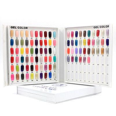 New120/216/308 Colours Display Book Chart Nail Gel Polish for Nail Art Salon