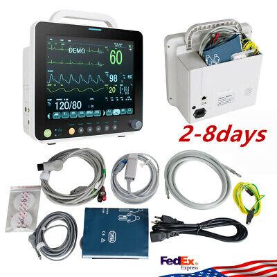 Vital Signs Patient Monitor Cardiac Machinemulti 6 Parameters Icu Ecg Monitor