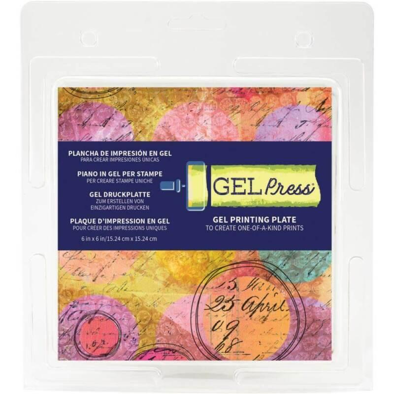 """Gel Press Gel Printing Plate 6""""X6"""""""