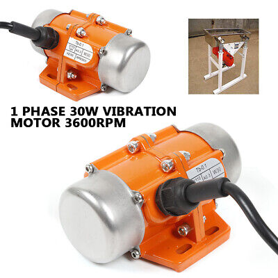 30w Aluminum Alloy Vibration Motors Shaker Motor Ac110v 3600rpm Single Phase New
