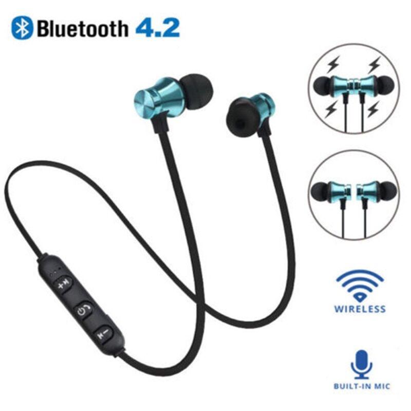 New Wireless Bluetooth 4.2 Earphone Headset Magnetic In-Ear Earbuds Headphone