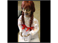 Grim Zombie Girl Animated Doll Halloween Decoration/Prop Light + Sound SCARY