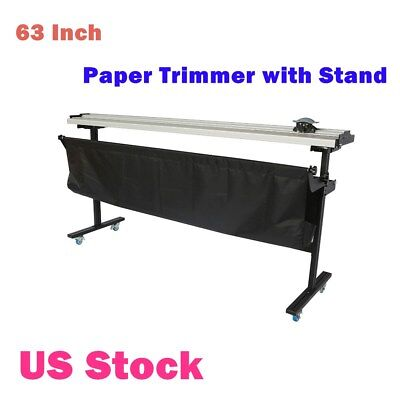 Us Stock 63 Manual Large Format Paper Trimmer Cutter With Support Stand