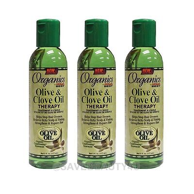 Olive Oil Scalp Treatment (3Pc Africa's Best Organics Olive & Clove Oil Therapy Hair & Scalp Treatment -6oz )