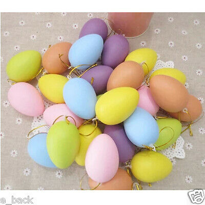 12pcs Children Kids DIY Painting Egg Toy With Rope Plastic Hanging Easter Gifts ](Plastic Eggs With Toys)