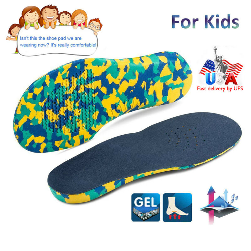 Orthotic Flat Feet Foot Arch Gel Heel Support Shoe Inserts I