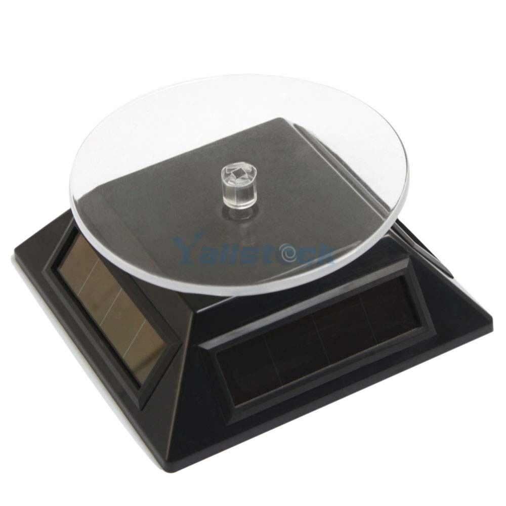 Solar Small Dial Powered Rotating Display Stand Turn Table