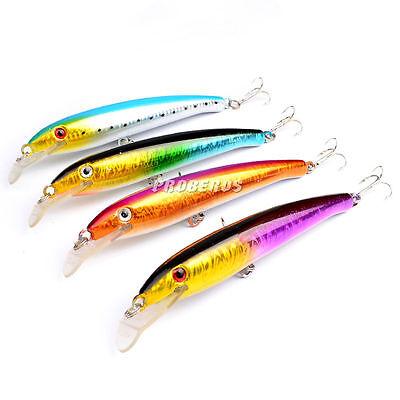 New 5pcs Lot Minnow Bass Fishing Lures Huge Baits 17.7cm//27.2g Tackle Crankbaits
