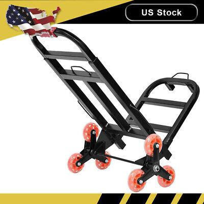 Trolley Climbing Luggage Hand Truck 6 Wheel Stair Climber Dolly Cart 330lbs Usa