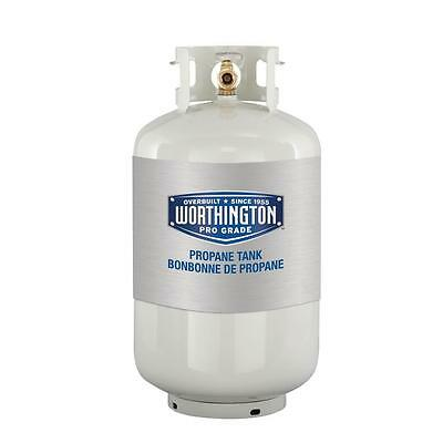 30 lb. Empty Refillable Propane Tank Cylinder, Ideal for Gas Barbecue BBQ Grills