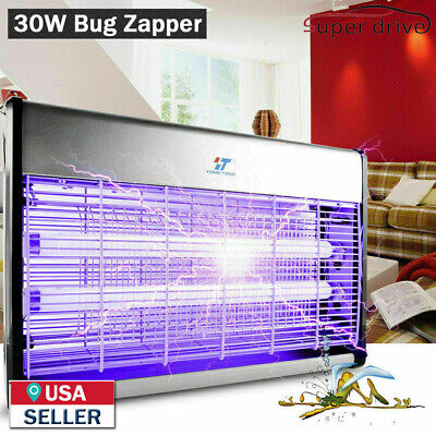 30W UV Night Lamp Electric Fly Bug Insect Trap Zapper Pest