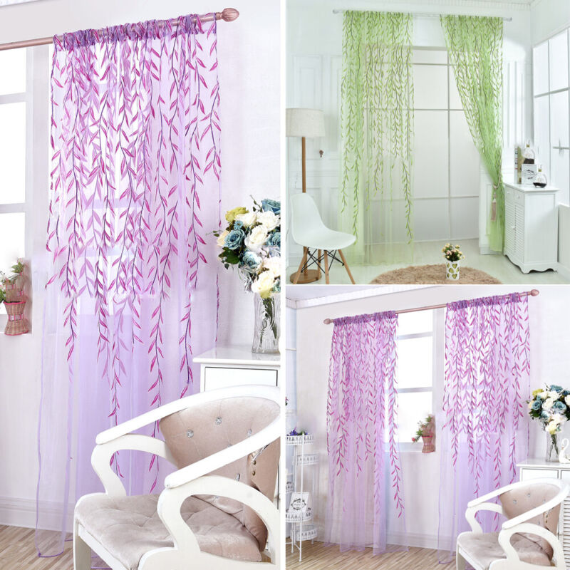 Net Voile Screening Windows Curtains Sheer Drape Living Room Bedroom Home Decor Curtains & Drapes