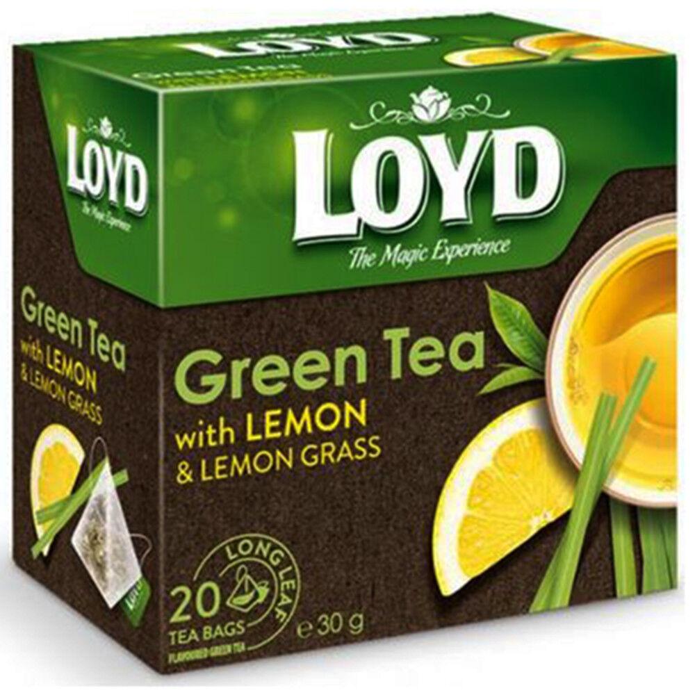 Loyd Grüner Tee Zitrone Zitronengras 20 Pyramidenbeutel Grüntee Tea pyramid bags