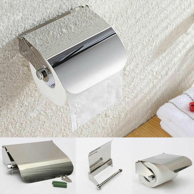 Bathroom+Toilets+Paper+Holder+Roll+Tissue+Box+Wall+Mount+Bracket+Durable+%2A1