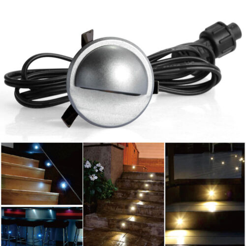 Pack Of 10 Low Voltage LED Deck Light Kit Waterproof Outdoor Step Stairs Gard