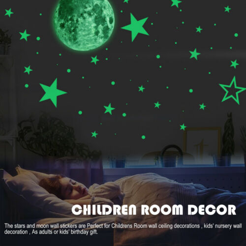 435x Glow In The Dark Luminous Stars And Moon Planet Space Wall Stickers Decal