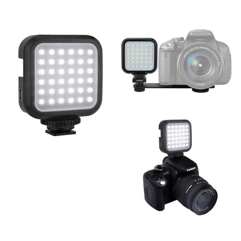 Universal Mini Portable Rechargeable USB LED Light for DSLR Cameras & USB Cable