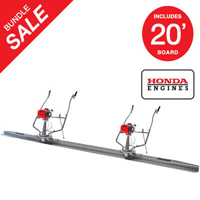 Gas Concrete Wet Screed Power Screed Bundle 20ft Board Powered By Honda Gx35