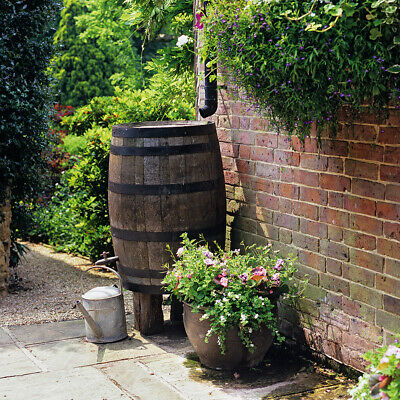 RECLAIMED WHISKEY / WINE OAK BARREL - IDEAL GARDEN WATER BUTT  / STORAGE / TABLE