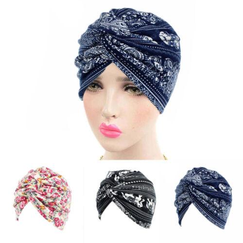 Flower Printed Women Fashion NEW Elastic Head Wraps Turban C